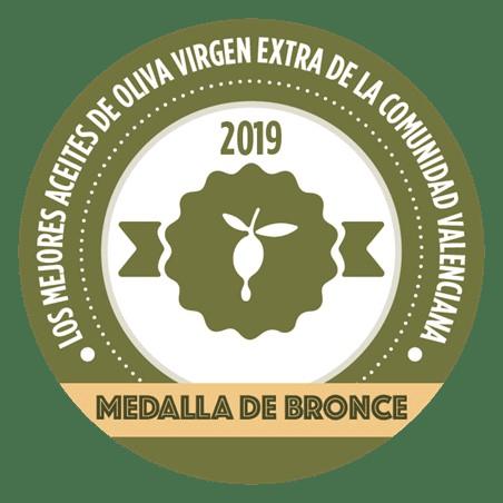 medalla bronce mejores aceites de oliva virgen Comunidad Valenciana 2019