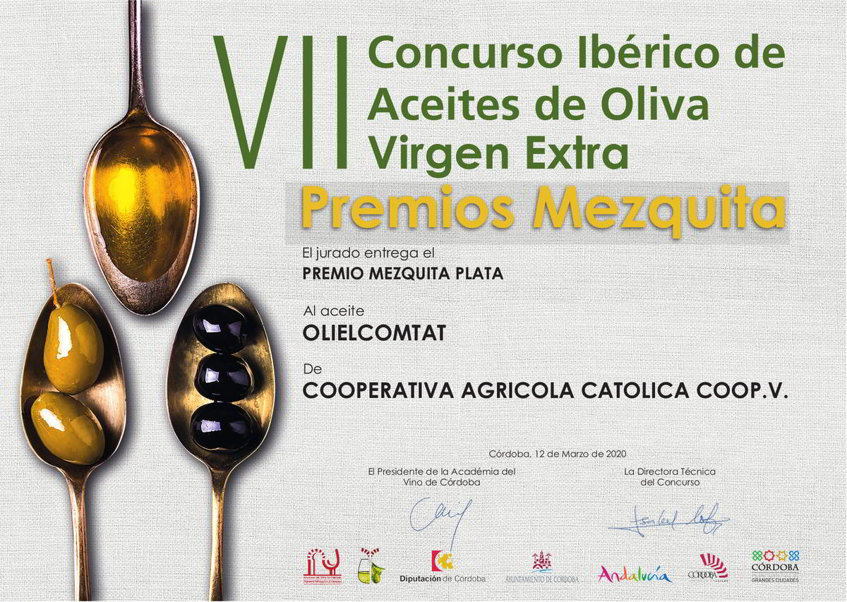 Premio Mezquita Aceite Arbequina Oli El Comtat