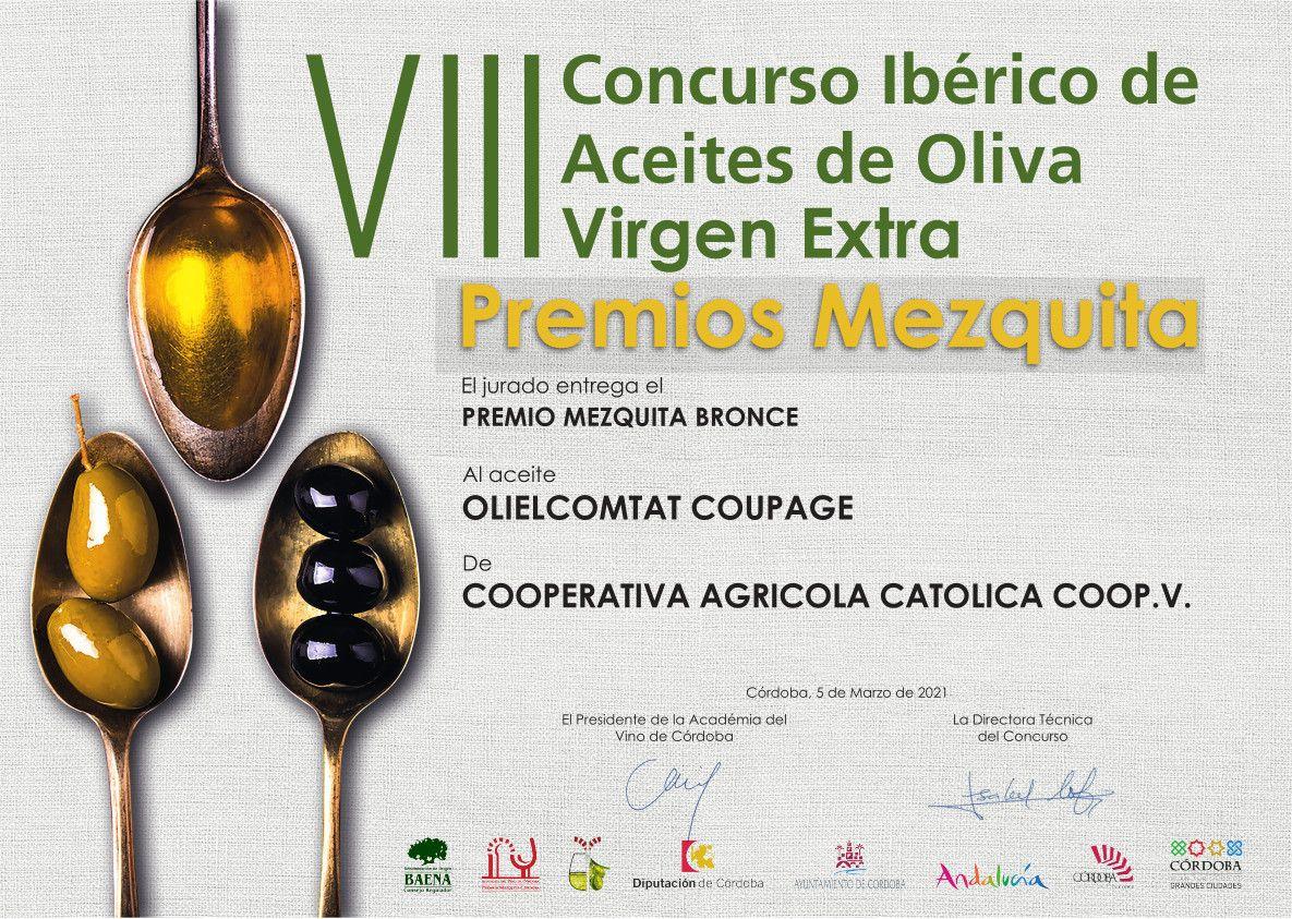 Premio Mezquita Bronce Coupage Oli El Comtat